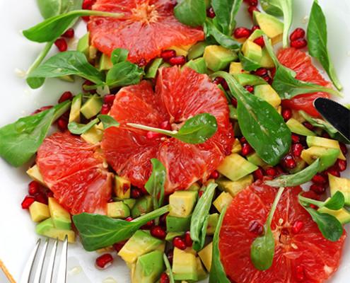 Sallad-med-grape-avokado-o-granatapplen