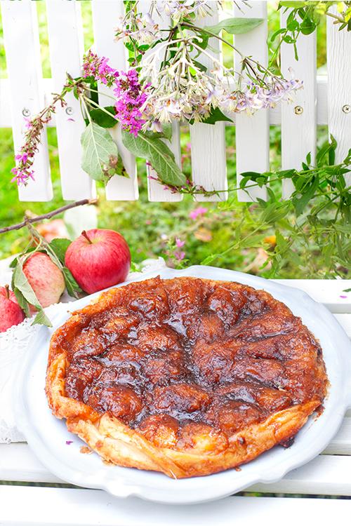 fransk äppelpaj mandelmassa
