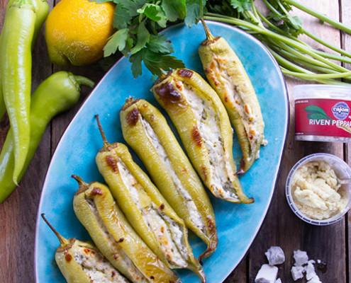 Grillade-carlipaprikor-med-fetaost-och-pepparrot